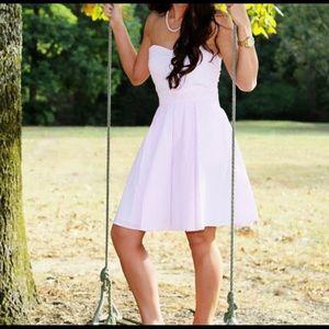 Lauren James pink seersucker dress